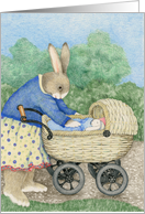New Baby Congratulations Rabbit Mother Gender Neutral card