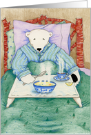 Bear in Bed Get Well Card