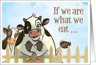 Complimenting Cow card