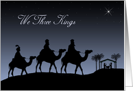 Christian We Three Kings Nativity for Christmas card