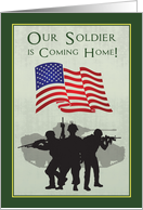 Welcome Home a Soldier by Announcing Their Return from Active Duty card