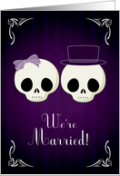 Announce Your Marriage with a Gothic Theme Announcement card