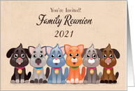 Customize Year Family Reunion Invitation with Dogs card