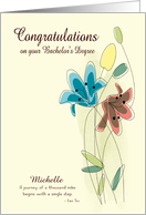 Custom Congratulations for Bachelor's Degree with Name card