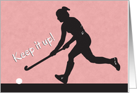Silhouette Field Hockey Player for Encouragement card
