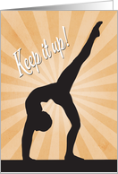 Female Silhouette Gymnast for Encouragement card