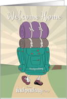 Welcome Home from Backpacking Party Invitation card