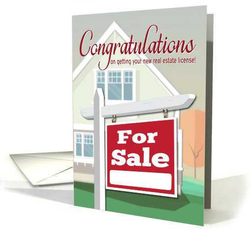 Congratulations on Earning Real Estate License with Home... (1526238)