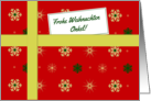 Frohe Weihnachten - For Uncle German language Christmas parcel card
