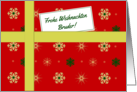 Frohe Weihnachten - For Brother German language Christmas parcel card
