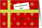 Frohe Weihnachten - For Grandma German language Christmas parcel card