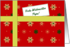Frohe Weihnachten - For Dad German language Christmas parcel card