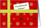 Frohe Weihnachten - For brother-in-law German Christmas parcel card