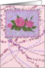 Blank card with Roses and Paint Splats card