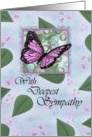 Deepest Sympathy Butterfly Card with religious scripture inside card