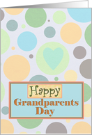 Happy Grandparents Day with Circles and Heart card