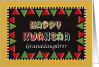 Happy Kwanzaa Granddaughter with shapes and letters card