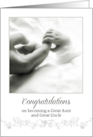 Congratulations on becoming a Great Aunt and Great Uncle card