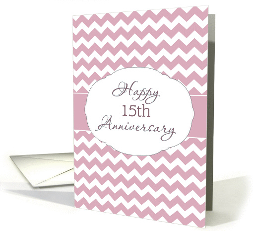 For Employee, Happy 15th Anniversary, Chevron card (1351356)