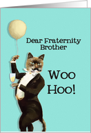 Dear Fraternity Brother, You're the Cat's Whiskers, Happy Birthday card