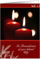 First Christmas after bereavement, Loss of Wife, Candles card