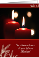 First Christmas after bereavement, Loss of Husband, Candles card