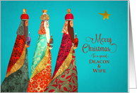 Merry Christmas, Deacon and Wife, Psalm 22, Wise Men, Gold Effect card
