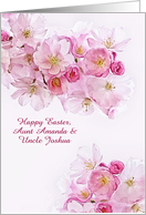 Customize for any Relation, Happy Easter, Cherry Blossoms card