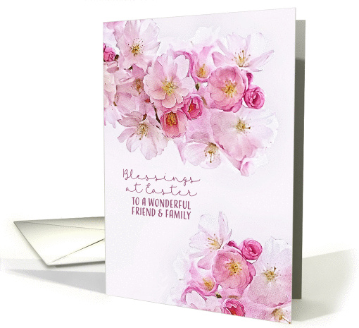 For Friend & Family , Blessings at Easter, Cherry Blossoms card