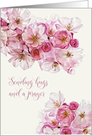 Get Well Soon, Christian Scripture Card, Cherry Blossoms card
