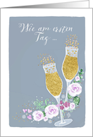 Invitation Wedding Anniversary, German, Einladung Hochzeitstag card