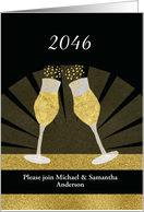 Year and Name Customizable, Invitation New Year's Eve Party card