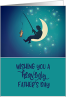 Wishing you a heavenly Father's Day, Fisherman, Surreal Style card