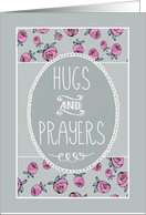 Hugs and Prayers, Christian Get Well Soon, Floral card