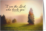 I Am The Lord Who Heals You, Exodus 15:26, Get Well Soon card