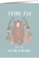 Thank You, Bottom of my Heart, Religious, Scripture card