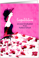 Congratulations on your Graduation from Fashion School, Model card