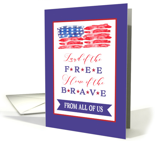 From all of Us, Happy 4th of July, Stars and Stripes card (1529848)