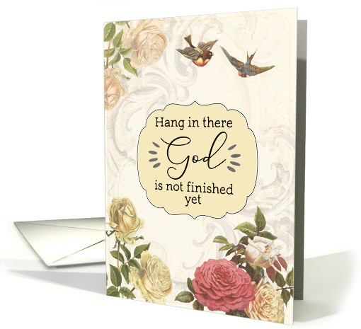 Hang in There, Christian Encouragement, Philippians 1:6 card (1532170)