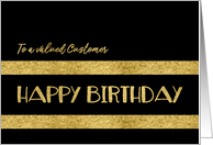 To a valued Customer, Happy Birthday, Corporate, Gold-Effect card