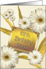 107th Birthday party invitation with daisies card