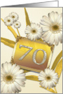 70th birthday card with daisies card