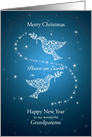 Grandparents,Doves of Peace Christmas card