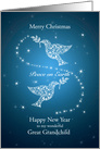 Great Grandchild, Doves of Peace Christmas card