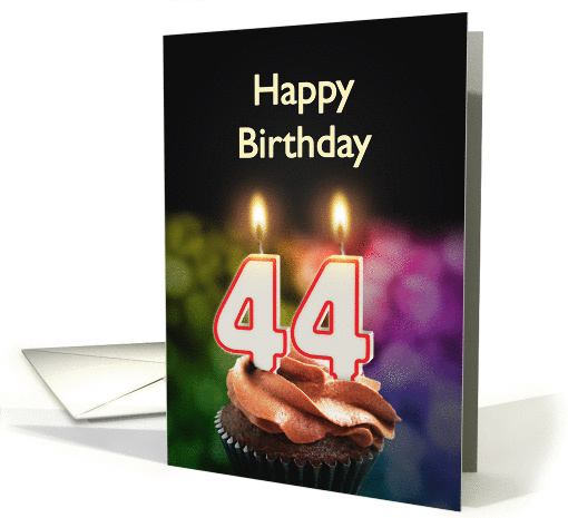 44th birthday with candles card (1370220)