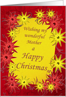 For mother, bright stars Christmas card. card