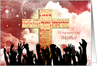 Mother, A Christmas cross with cheering crowds card