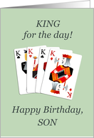 Son, Birthday, Four Kings Playing Cards Poker card