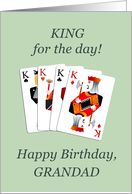 Grandad, Birthday, Four Kings Playing Cards Poker card