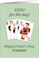 Add a name, Father's Day, Four Kings Playing Cards Poker card